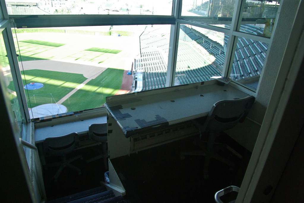 baseball press box