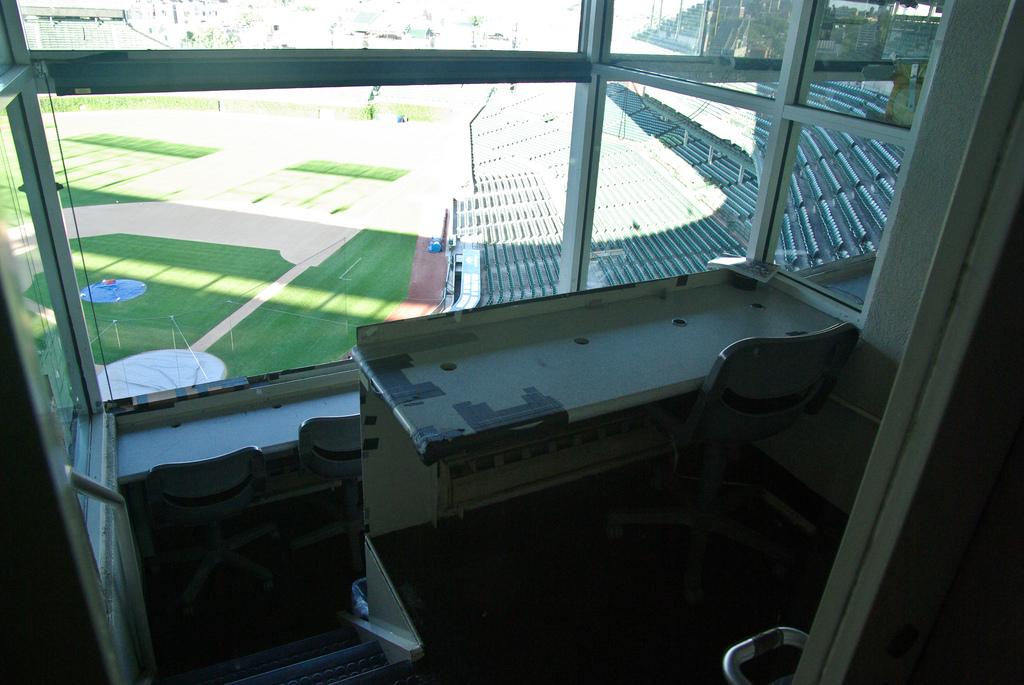 baseball press box